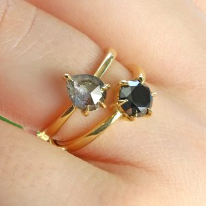 salt pepper diamond ring