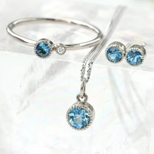 18ct White Gold Sapphire birthstone Jewellery - September Birthday Gifts
