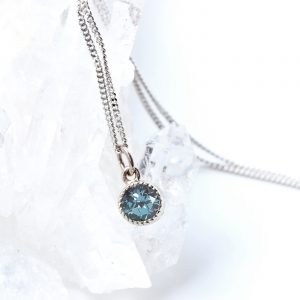 Ethical designer birthstone jewellery by Lilia Nash - The alexandrite range includes necklaces, earrings and rings for June birthday gifts.