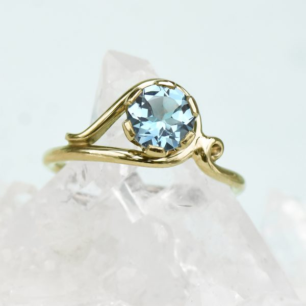18ct Gold Aquamarine Ring - Lilia Nash Jewellery