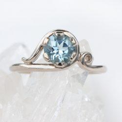Lilia Nash Custom Rings Customised Art Nouveau Ring Gold Platinum