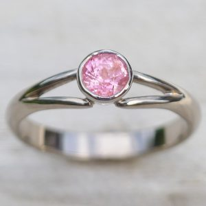 Pink Sapphire Split-shank Ring
